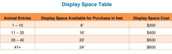 National-Brahman-Show-display-space-table
